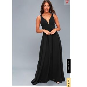 Low Cut Lulus Black Maxi Dress